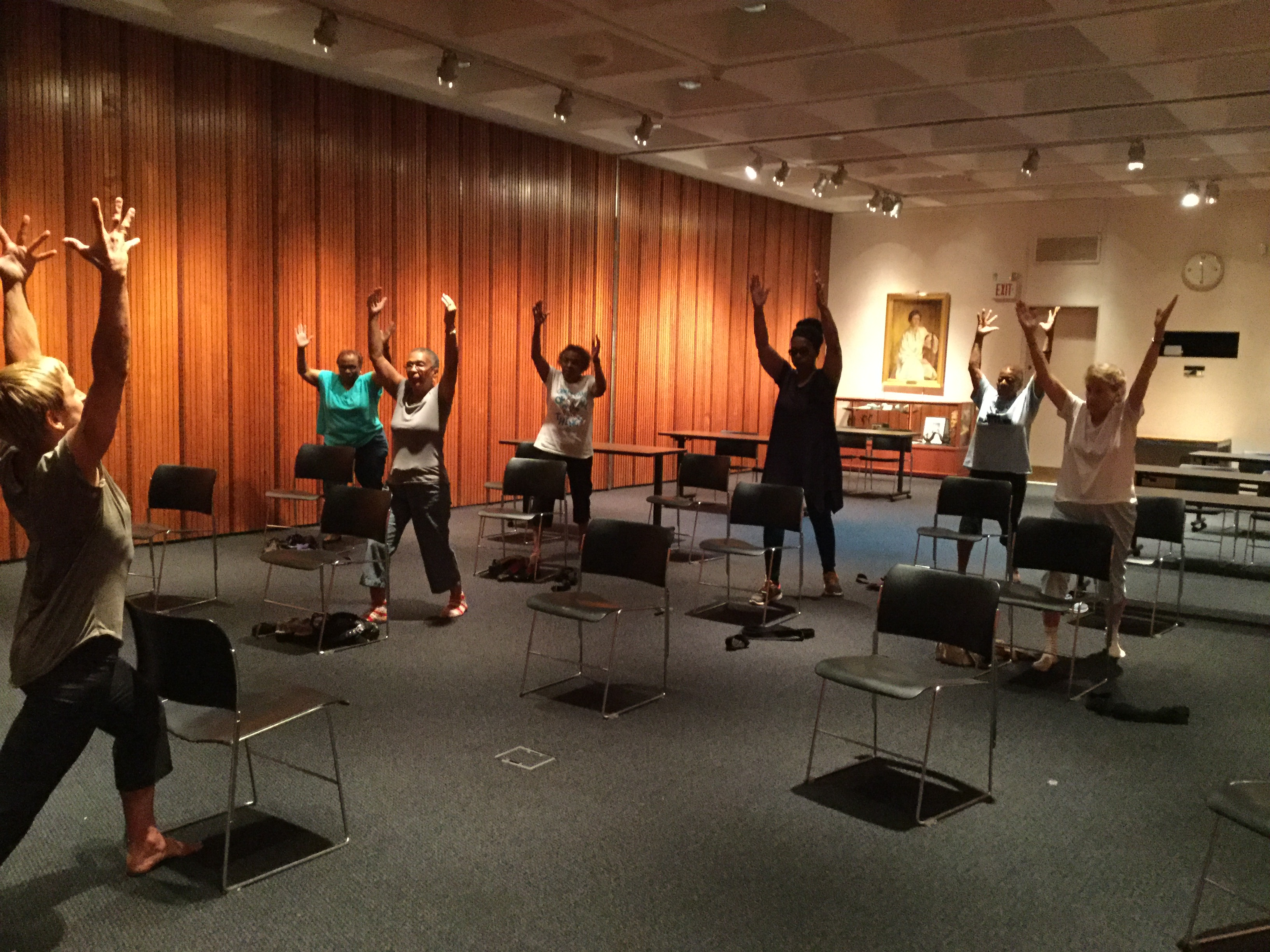Energizing yoga at the library.